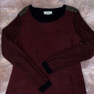 ❤️Thick Maroon knitted sweater
